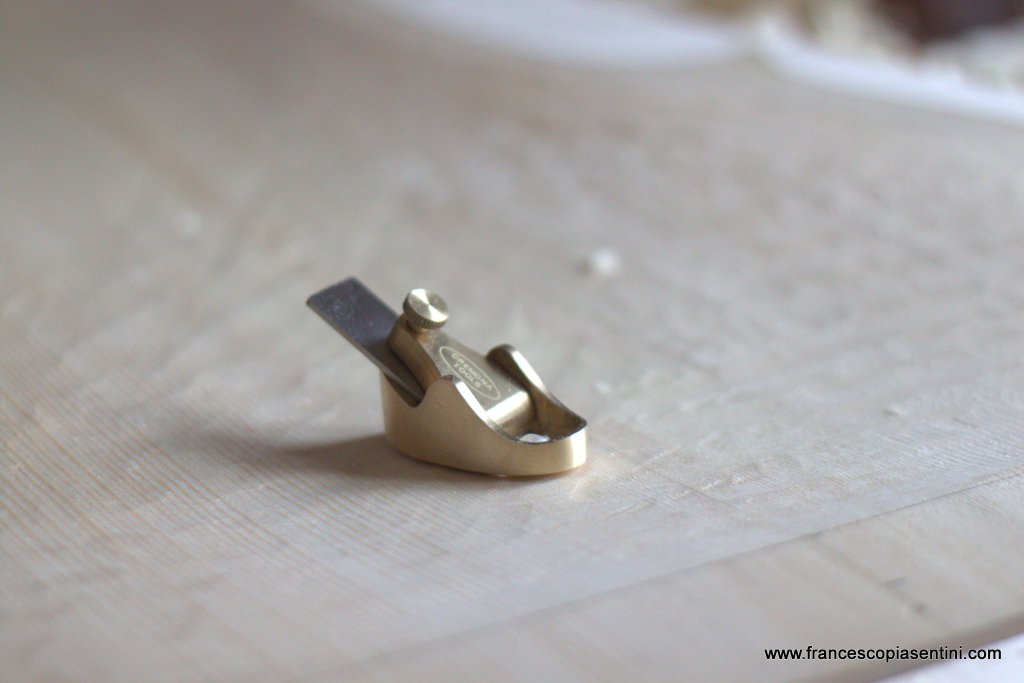 Cremona Tools brass Plane for rough carving of a Cello top - Piasentini Violin Maker - Padova