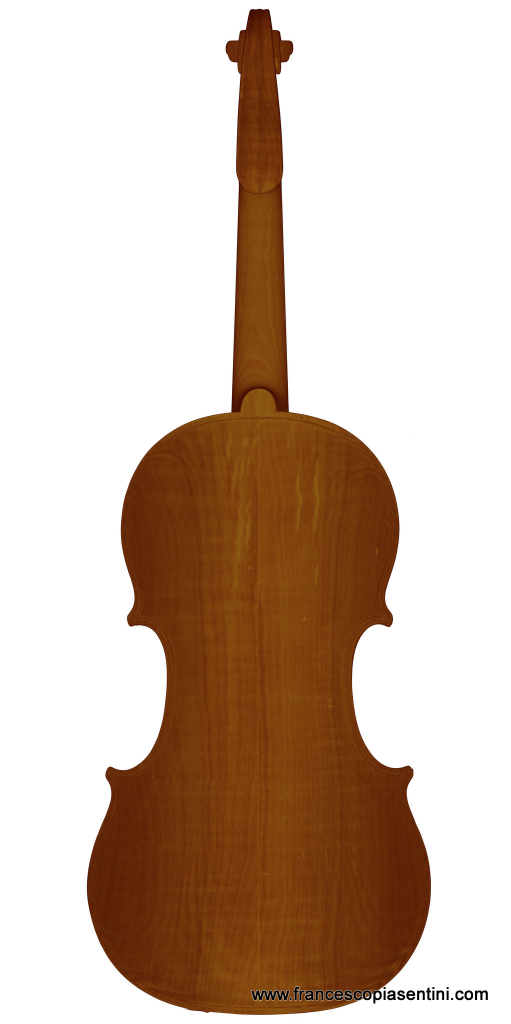 3D rendering of a Rogeri Workshop's violin taken at Sideius by Francesco Piasentini