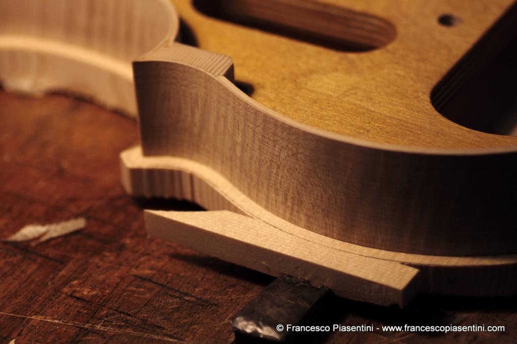 Giunta sulla tavola armonica viola modello GIrolamo Amati - Francesco Piasentini Studio Liuteria e Restauro - Padova