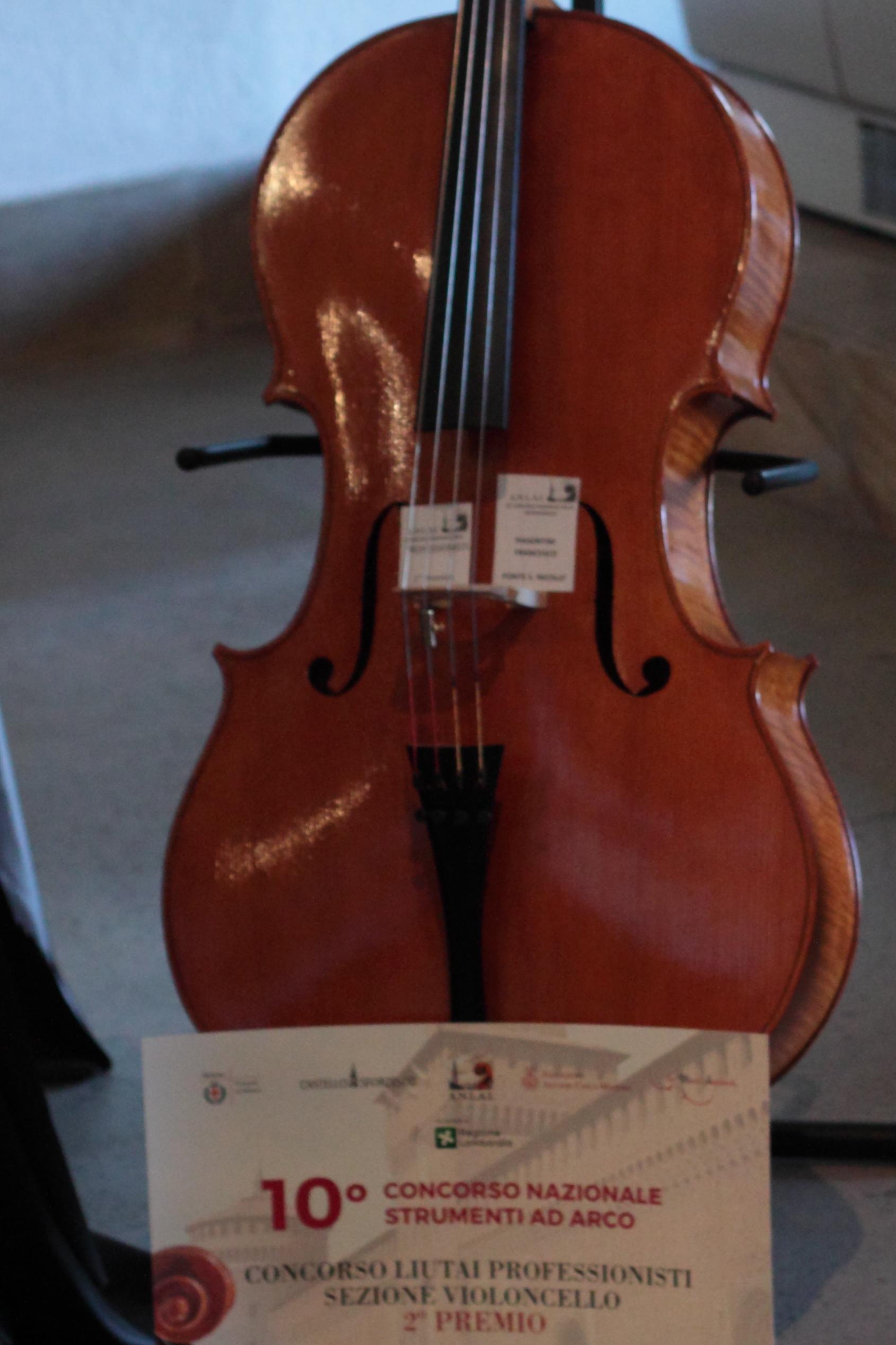 violoncello Francesco Piasentini concorso ANLAI 2016 medaglia argento