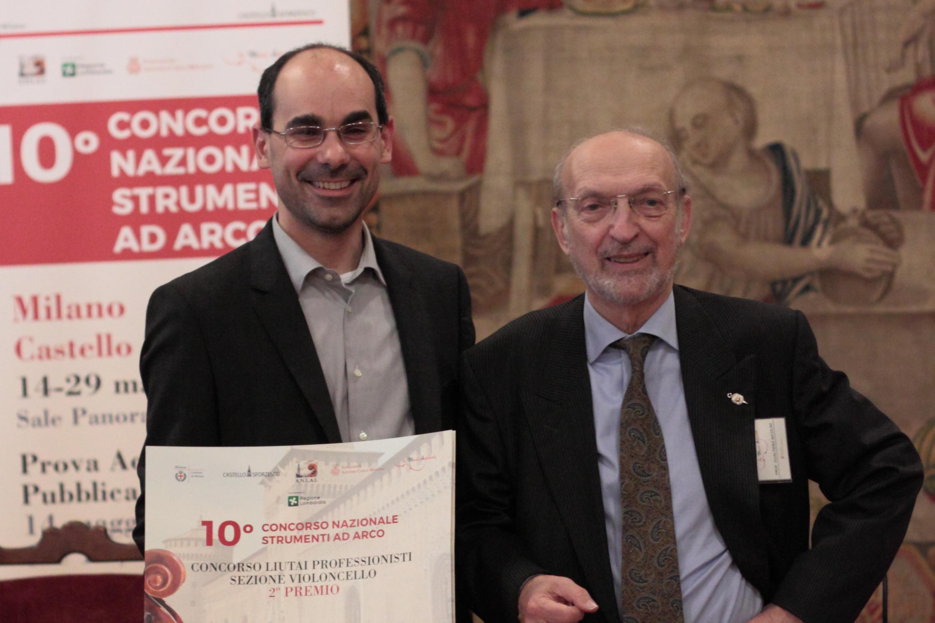 Francesco Piasentini e Gualtiero Nicolini cerimonia premiazione ANLAI Milano 2016
